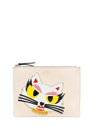 Karl Lagerfeld Monster Choupette Coated Canvas Pouch