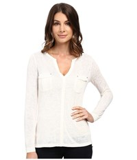 Calvin Klein Jeans Long Sleeve Rollup With Cargo Pockets Pristine Women's Clothing Neutral