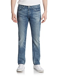 7 For All Mankind Rhigby Skinny Straight Leg Jeans American Blue