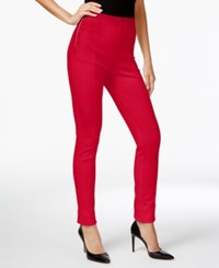 Inc International Concepts Petite High Waist Skinny Pants Only At Macy's Glam Red