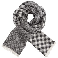 Scotch And Soda Refined 'Combo A' Scarf Grey