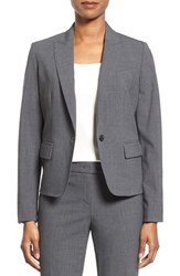 Women's Anne Klein One Button Suit Jacket Light Grey