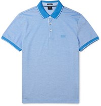 Hugo Boss Cotton Pique Polo Shirt Blue