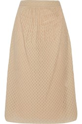 M Missoni Textured Cotton Blend Knit Midi Skirt