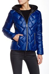 Guess Quilted Puffer Jacket Blue