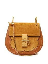 Chloe Drew Small Suede And Leather Cross Body Bag Dark Yellow
