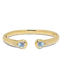 Temple St. Clair 18K Yellow Gold Classic Hinge Bracelet With Royal Blue Moonstone And Diamonds Blue Gold