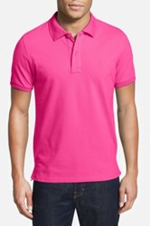 Tailorbyrd Stretch Pique Cotton Polo Big And Tall Pink