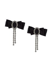 Lanvin Ribbon Clip On Earrings Black