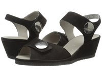 Ara Carrie Black Nubuck Women's Sandals