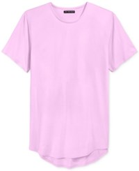 Jaywalker Men's Curved Hem Long Length T Shirt Pink
