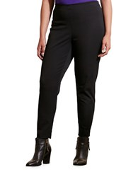 Lauren Ralph Lauren Plus Stretch Cotton Skinny Pants Black
