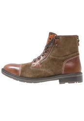 Geox Rickmove Laceup Boots Browncotto