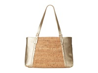 Jack Rogers Alaina East West Tote Cork Gold Tote Handbags