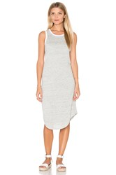 Michael Stars Linen Knit Keyhole Back Tank Dress Gray
