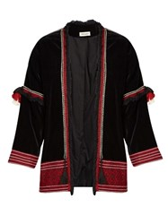 Masscob Badin Embroidered Velvet Jacket Black Multi