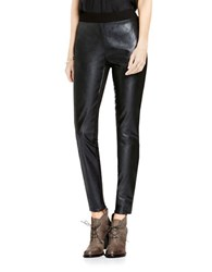 Vince Camuto Ponte Backed Pleather Leggings Black