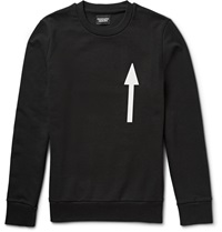 Christopher Raeburn Arrow Print Cotton Jersey Sweatshirt Black