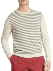 Slowear Stripe Front Sweater Grey