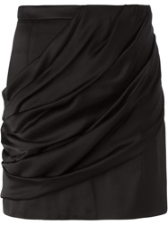 Balmain Draped Mini Skirt Black