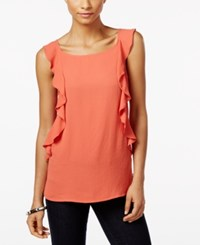 Inc International Concepts Ruffled Top Only At Macy's Windy Desert