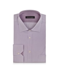 Forzieri Light Purple Striped Cotton Shirt White