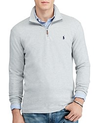 Polo Ralph Lauren Cashmere Touch Half Zip Sweater Andover Heather