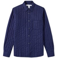 Comme Des Garcons Shirt Quilted Overshirt Blue