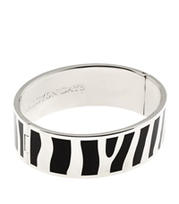 Halcyon Days Palladium Zebra Hinged Bangle