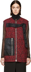 3.1 Phillip Lim Red And Black Quilted Lace Strap Vest