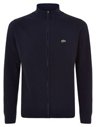 Lacoste Full Zip High Collar Sweater Navy