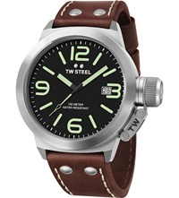 Tw Steel Cs21 Canteen Leather Watch