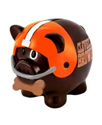 Forever Collectibles Cleveland Browns Mini Piggy Bank Team Color