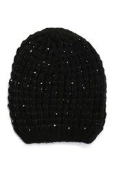Do Everything In Love Sequin Accented Beanie Black