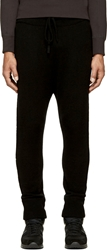 Helmut Lang Black Cashmere Knit Lounge Pants