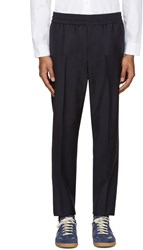 Acne Studios Navy Wool Ryder Trousers