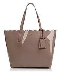 Kate Spade New York Lily Avenue Patent Carri Tote Porcini Rose Taupe