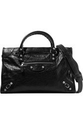 Balenciaga Giant 12 City Textured Leather Tote Black