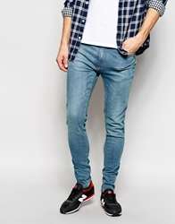Pull And Bear Pullandbear Jeans In Super Skinny Fit Blue