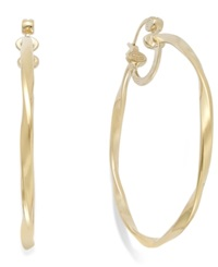 Sis By Simone I Smith Twisted Large Hoop Earrings In 14K Gold Vermeil Over Sterling Silver