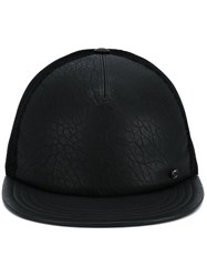 Maison Michel Flat Peak Cap Black