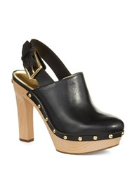 Michael Michael Kors Beatrice Leather Mules Black