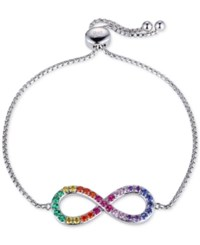 Giani Bernini Multi Color Cubic Zirconia Infinity Bracelet In Sterling Silver Only At Macy's