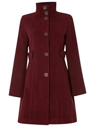 White Stuff Market Place Velvet Coat Mulberry