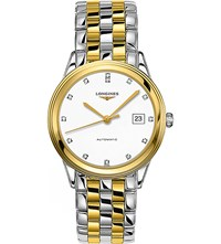 Longines L4.874.3.27.7 La Grande Classique Stainless Steel Diamond And Yellow Gold Watch