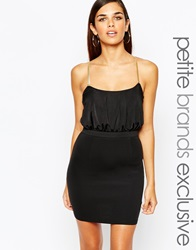 Lipstick Boutique Petite Bodycon Dress With Gold Chain Cross Back Detail Black