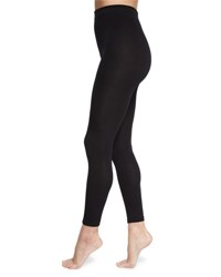 Neiman Marcus Fleece Lined Solid Leggings Black
