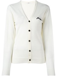 Julien David V Neck Cardigan White