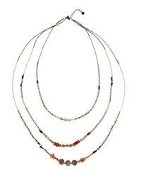 Nakamol Long Triple Strand Beaded Necklace No Color