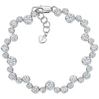 Jools By Jenny Brown Cubic Zirconia Circles Bracelet Silver